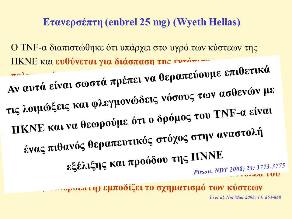 Ετανερσέπτη (enbrel 25 mg) (Wyeth Hellas)
