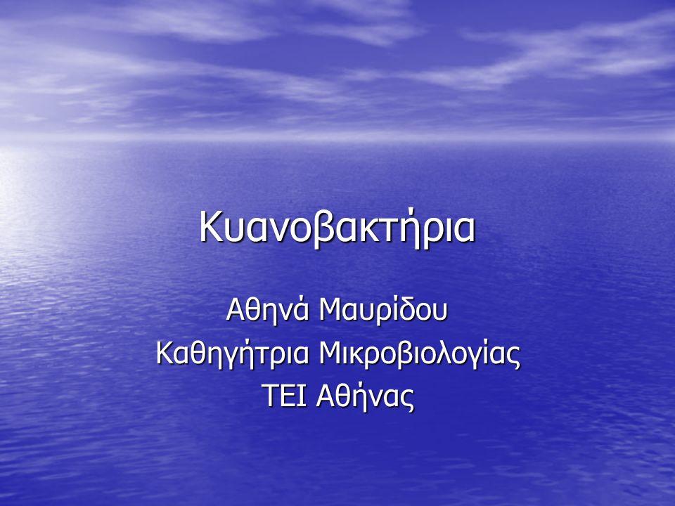 Αθηνά Μαυρίδου Καθηγήτρια Μικροβιολογίας ΤΕΙ Αθήνας