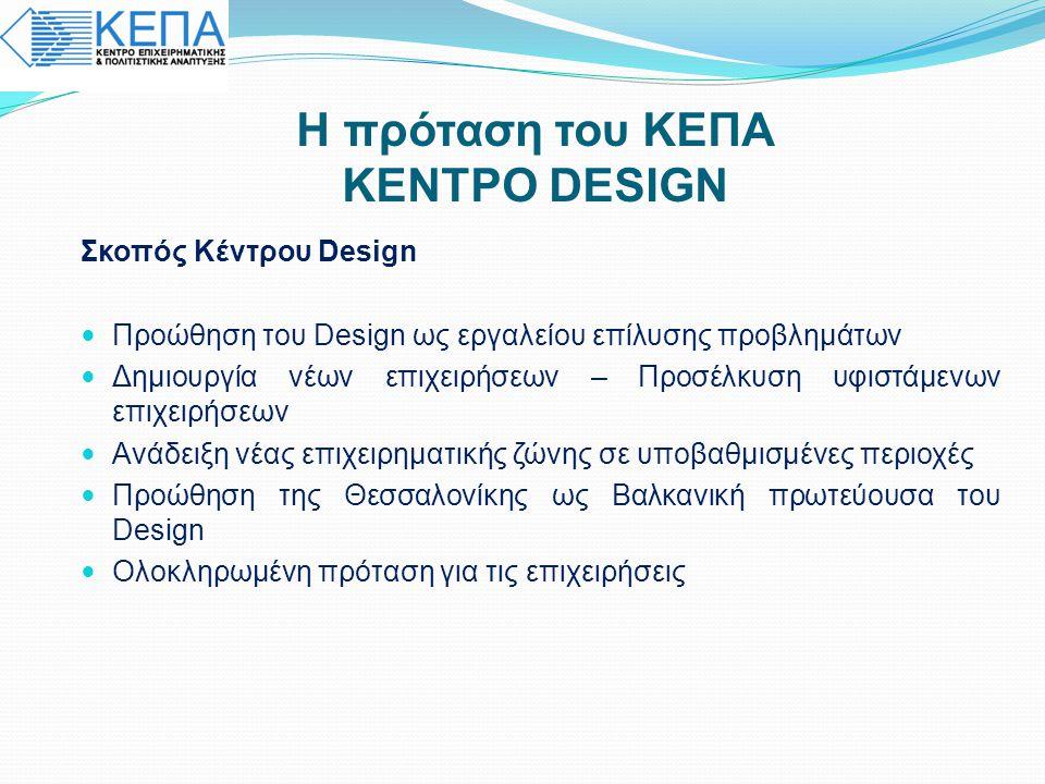 Η πρόταση του ΚΕΠΑ ΚΕΝΤΡΟ DESIGN