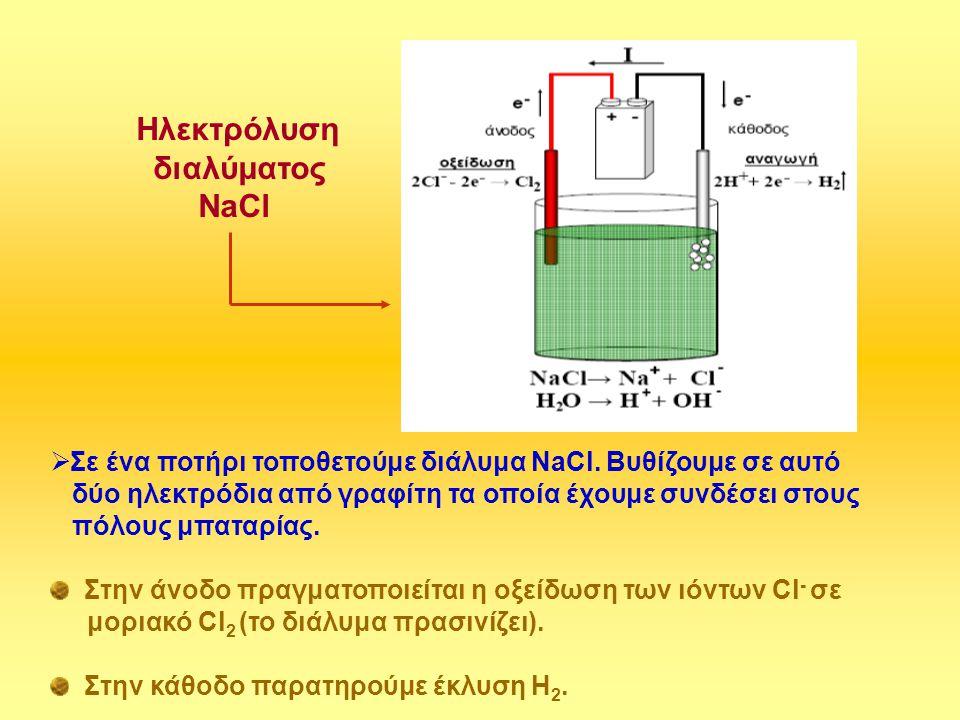 Ηλεκτρόλυση διαλύματος NaCl