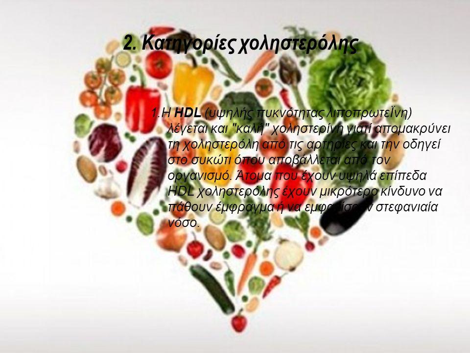 2. Κατηγορίες χοληστερόλης