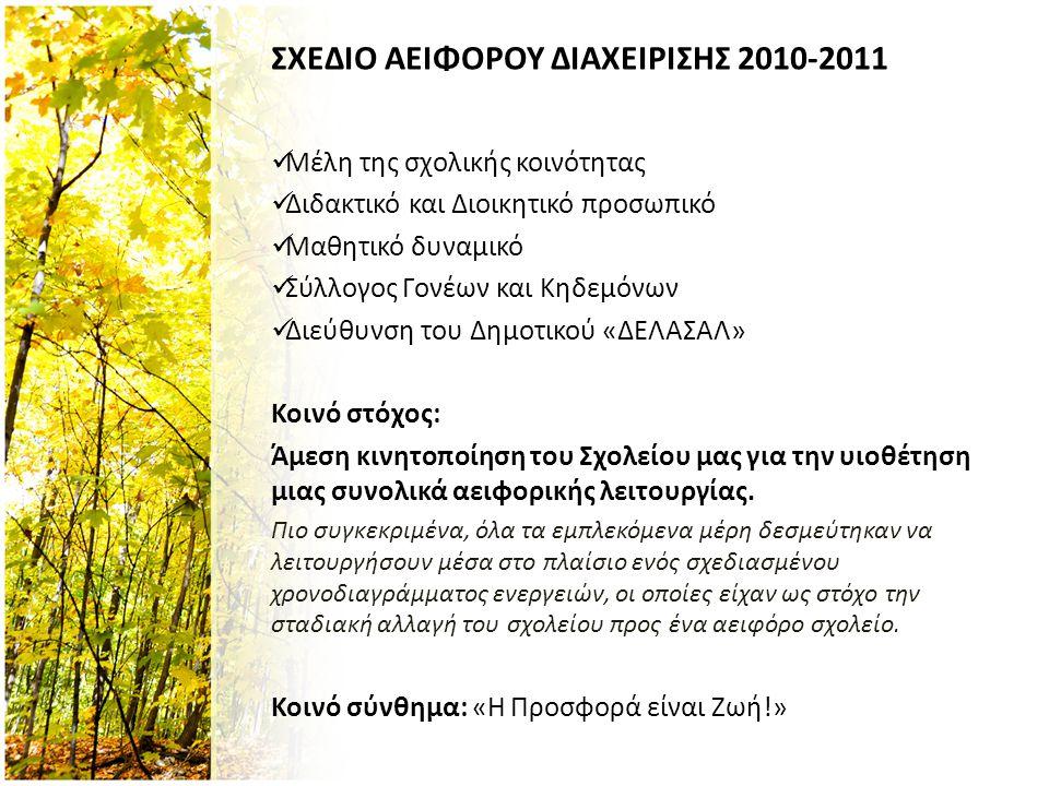 ΣΧΕΔΙΟ ΑΕΙΦΟΡΟΥ ΔΙΑΧΕΙΡΙΣΗΣ 2010-2011