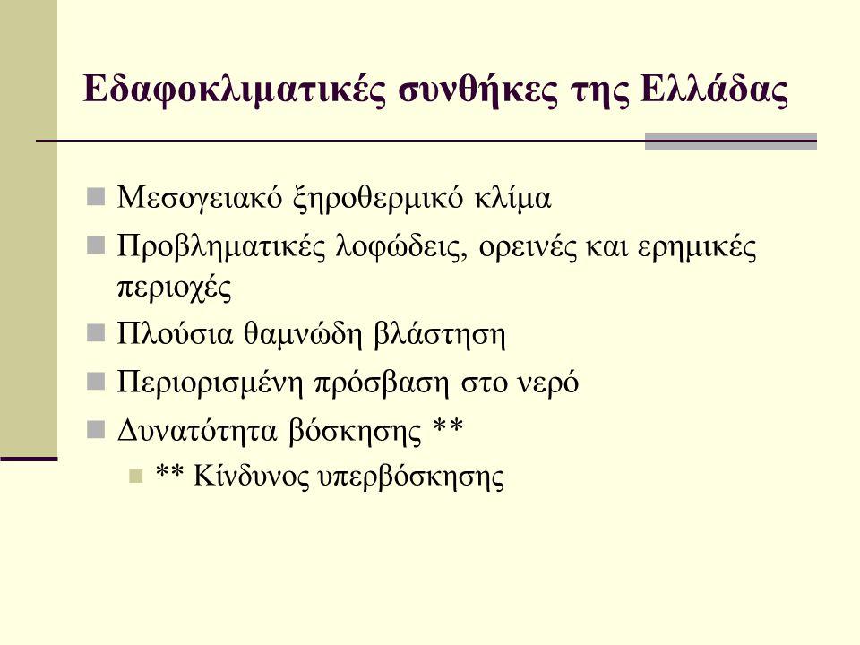 Εδαφοκλιματικές συνθήκες της Ελλάδας