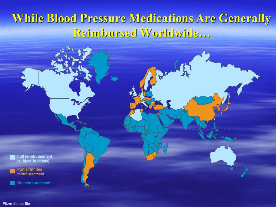 While Blood Pressure Medications Are Generally Reimbursed Worldwide…