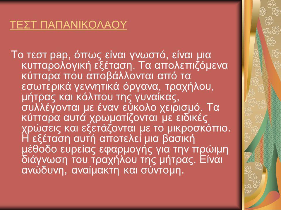 ΤΕΣΤ ΠΑΠΑΝΙΚΟΛΑΟΥ