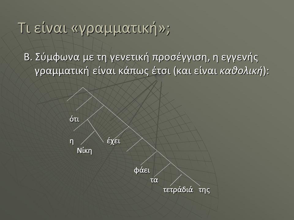 Τι είναι «γραμματική»;