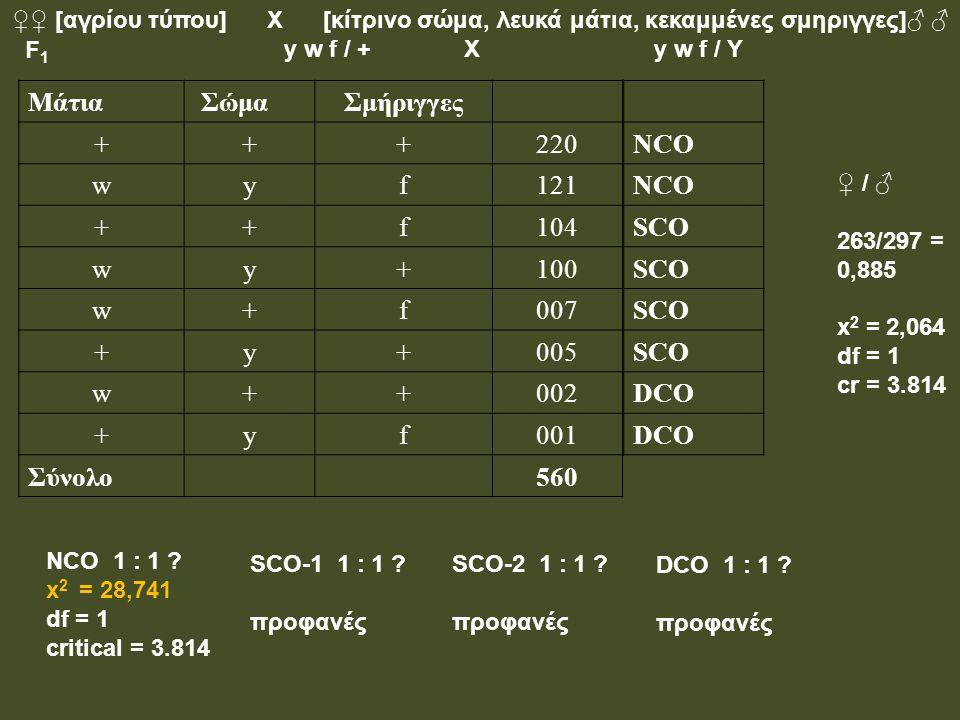 Μάτια Σώμα Σμήριγγες + 220 w y f 121 104 100 007 005 002 001 Σύνολο