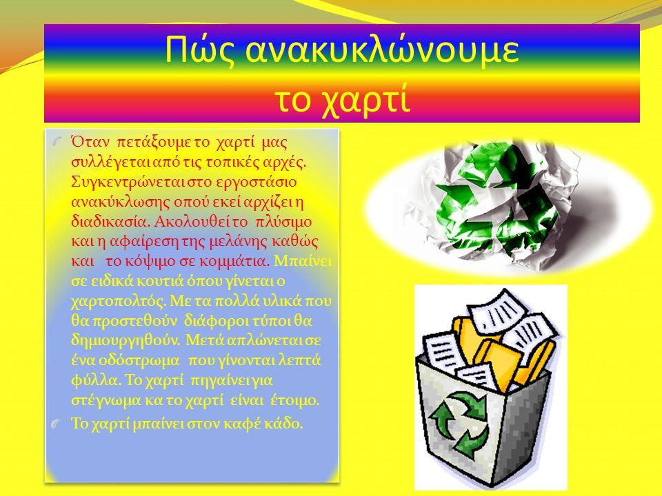 Πώς ανακυκλώνουμε το χαρτί
