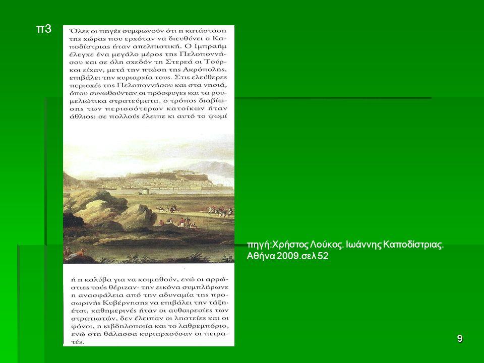 π3 πηγή:Χρήστος Λούκος. Ιωάννης Καποδίστριας. Αθήνα 2009.σελ 52