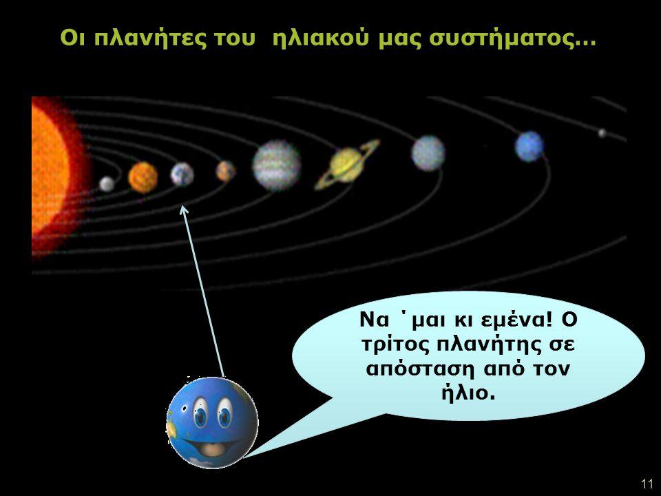 Οι πλανήτες του ηλιακού μας συστήματος…