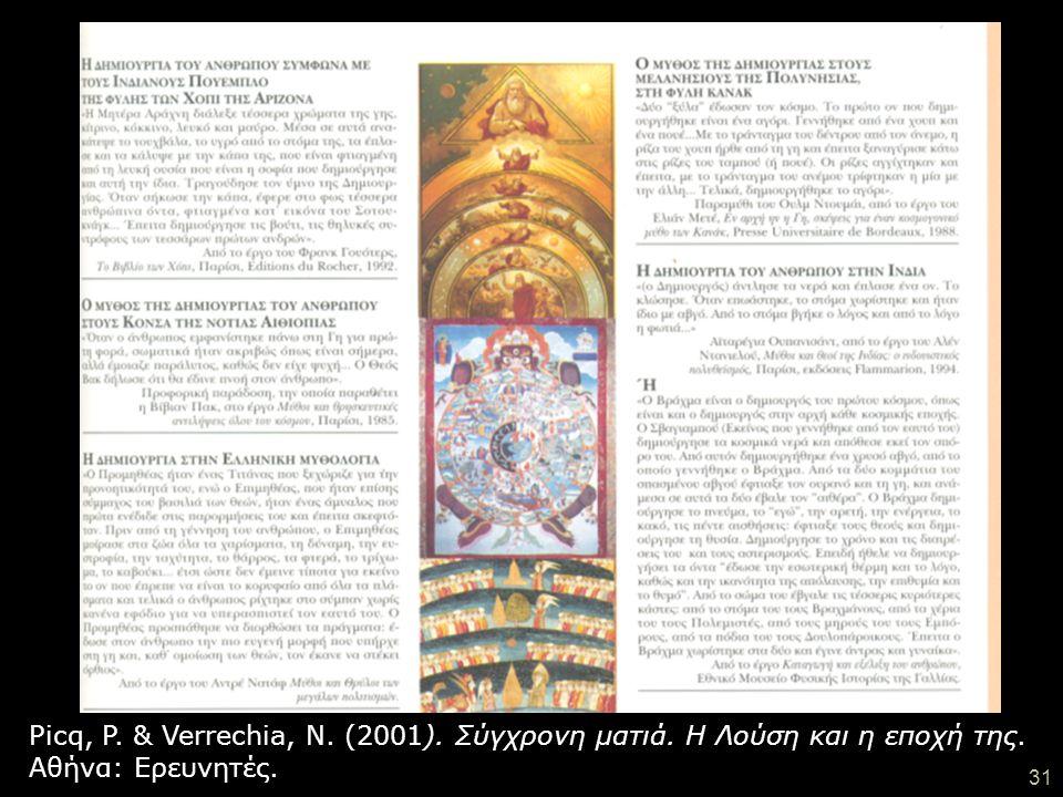 Picq, P. & Verrechia, N. (2001). Σύγχρονη ματιά