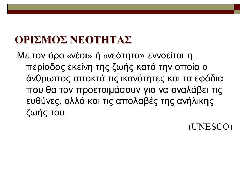 ΟΡΙΣΜΟΣ ΝΕΟΤΗΤΑΣ