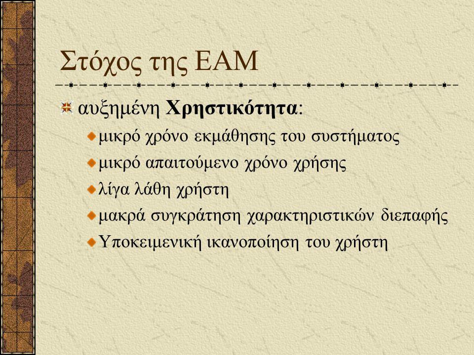 Στόχος της ΕΑΜ αυξημένη Χρηστικότητα: