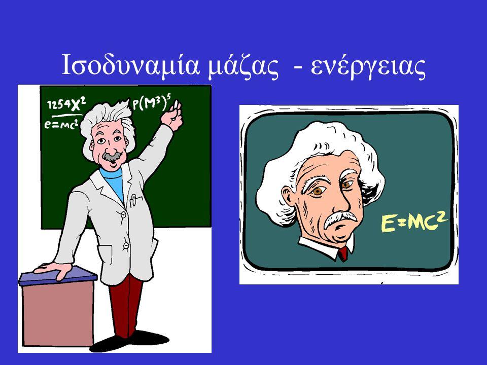 Ισοδυναμία μάζας - ενέργειας