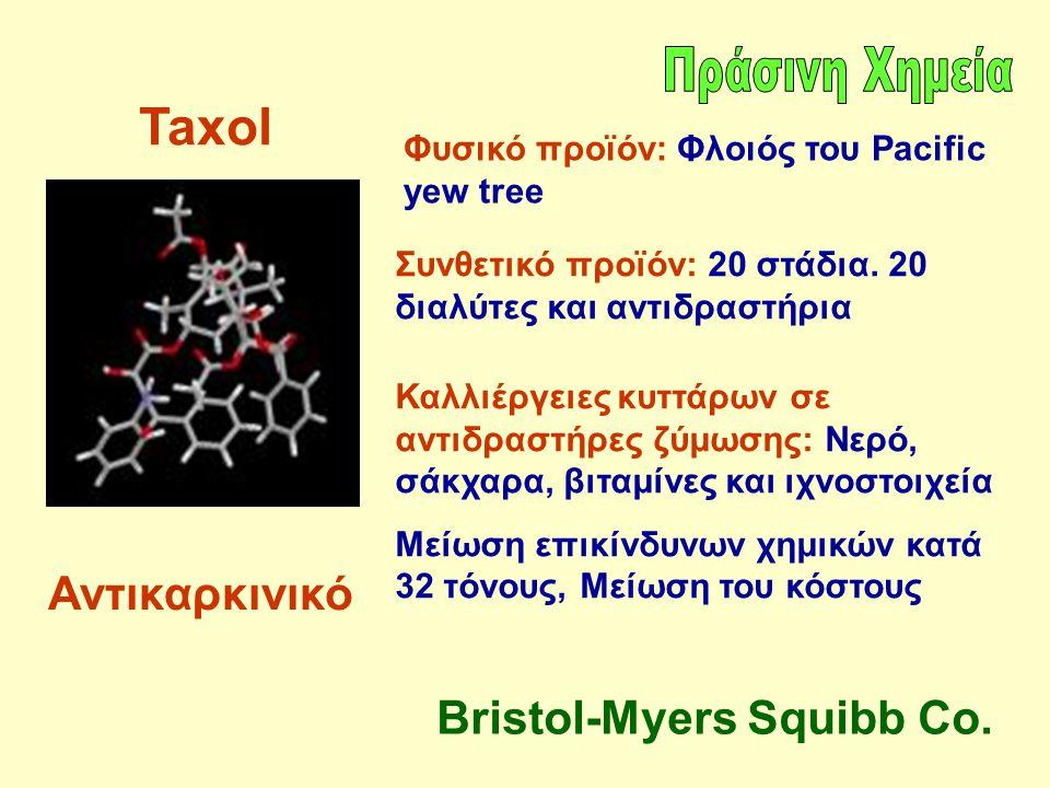 Taxol Αντικαρκινικό Bristol-Myers Squibb Co. Πράσινη Χημεία