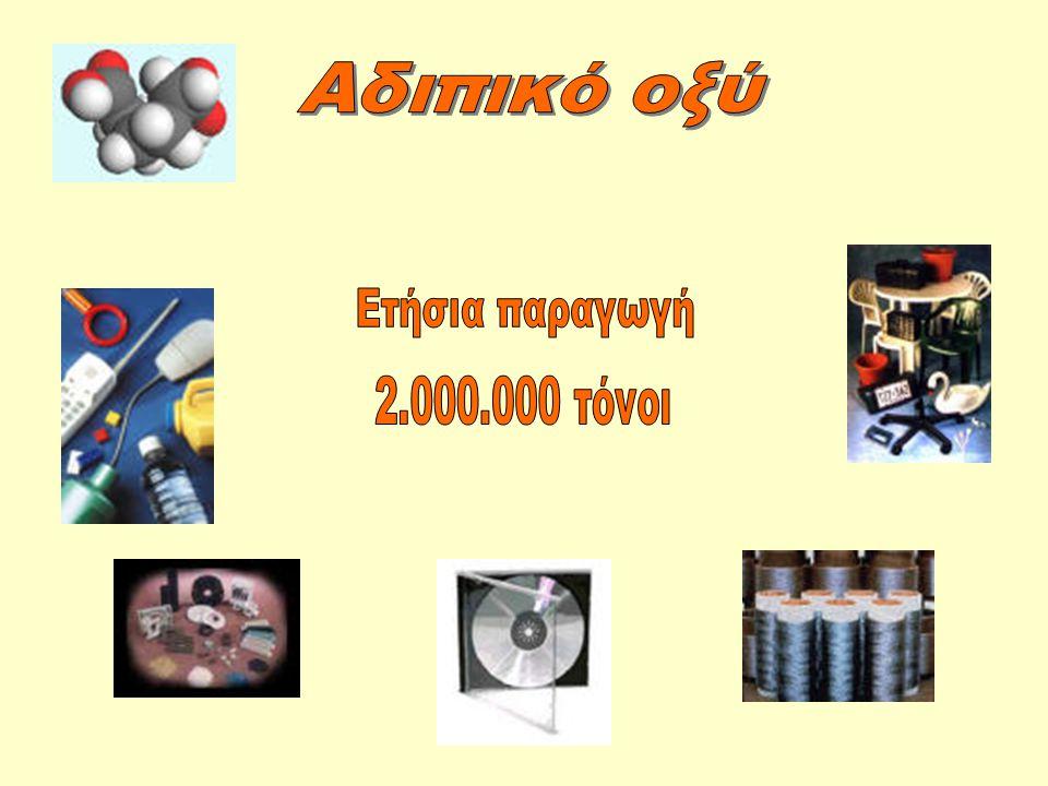 Αδιπικό οξύ Ετήσια παραγωγή 2.000.000 τόνοι