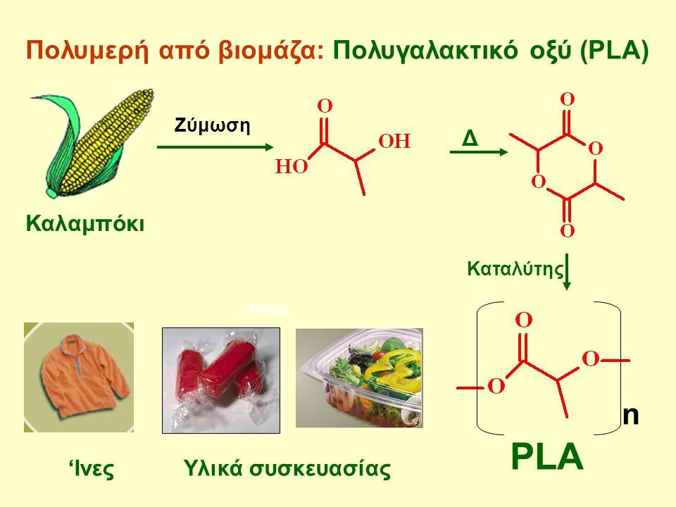 PLA n Πολυμερή από βιομάζα: Πολυγαλακτικό οξύ (PLA) Δ Καλαμπόκι