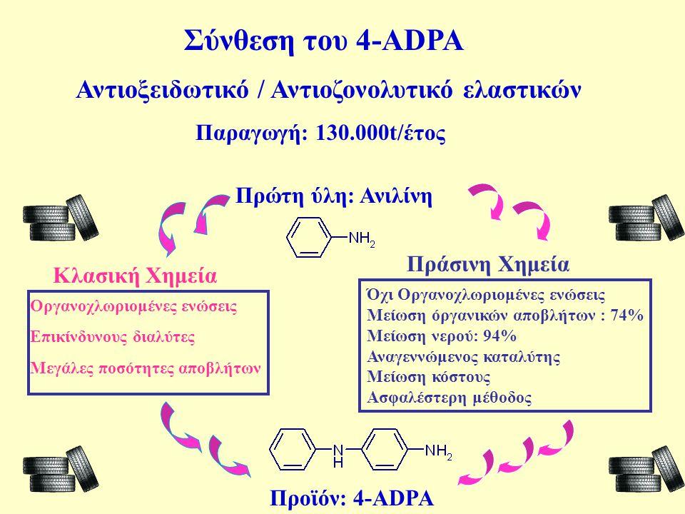 Σύνθεση του 4-ADPA Αντιοξειδωτικό / Αντιοζονολυτικό ελαστικών