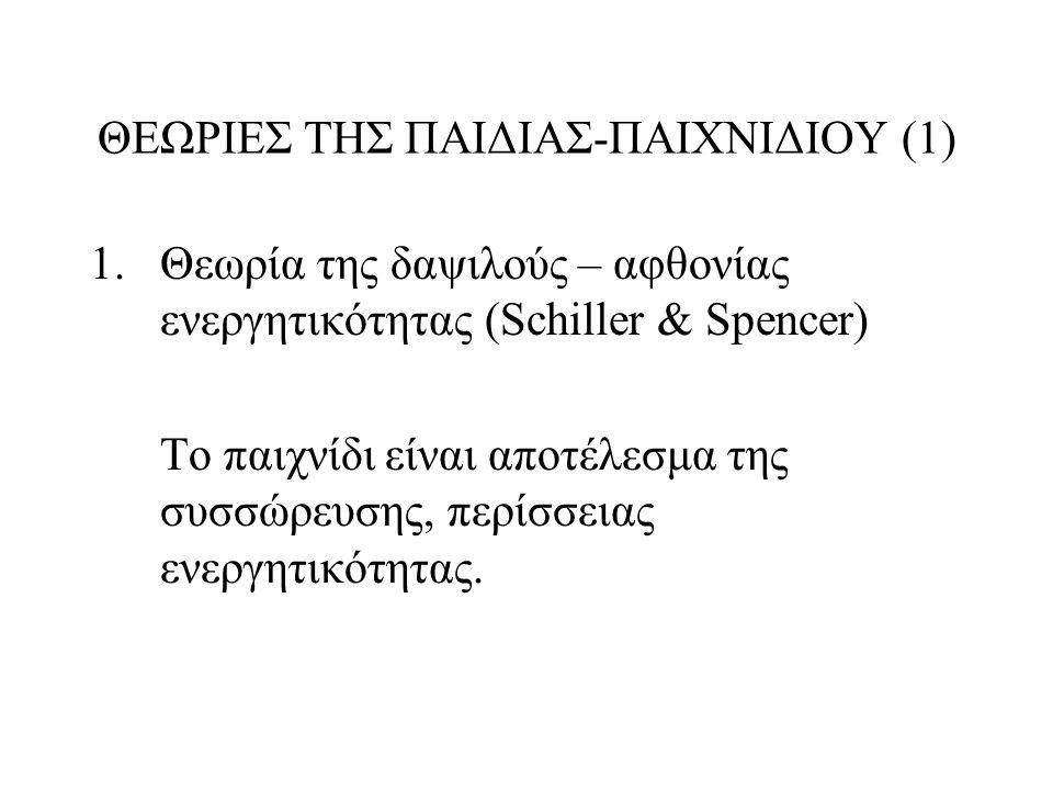 ΘΕΩΡΙΕΣ ΤΗΣ ΠΑΙΔΙΑΣ-ΠΑΙΧΝΙΔΙΟΥ (1)