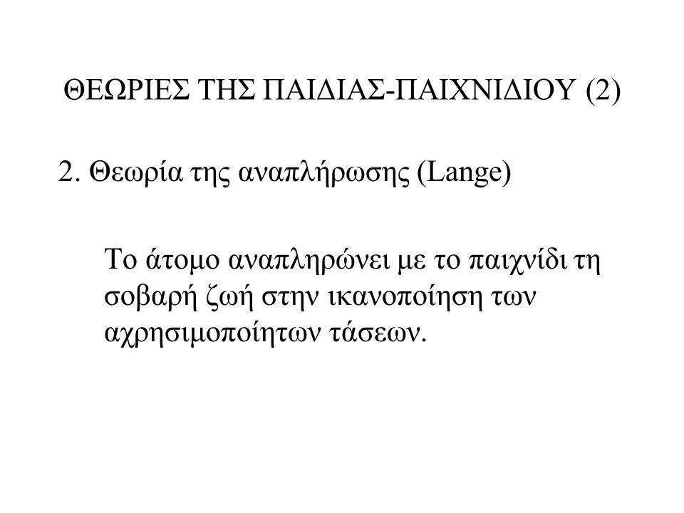 ΘΕΩΡΙΕΣ ΤΗΣ ΠΑΙΔΙΑΣ-ΠΑΙΧΝΙΔΙΟΥ (2)