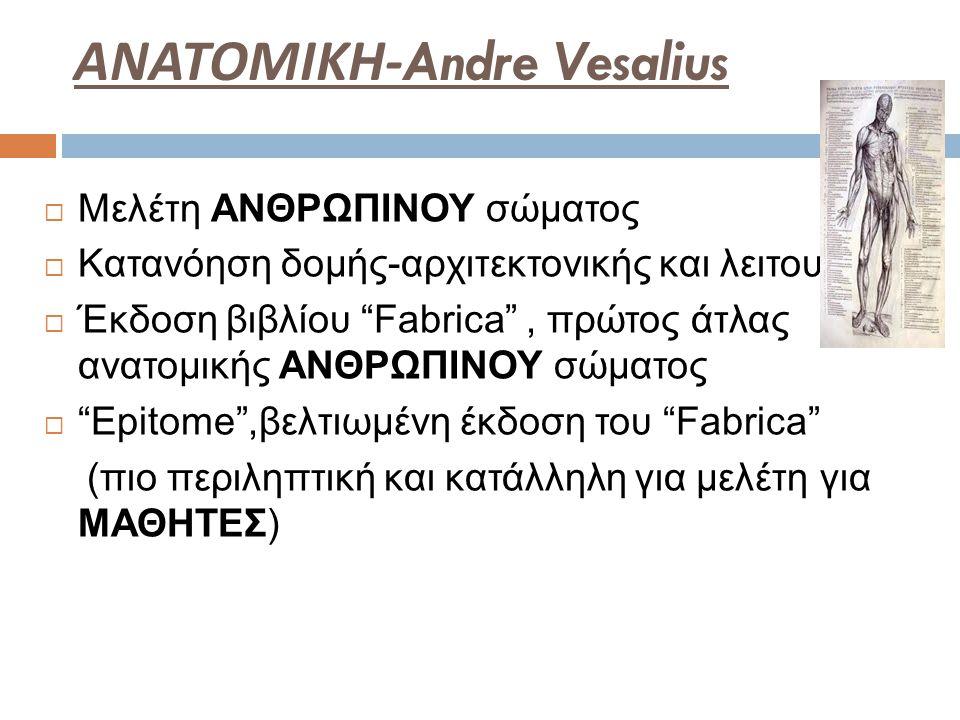 ΑΝΑΤΟΜΙΚΗ-Andre Vesalius