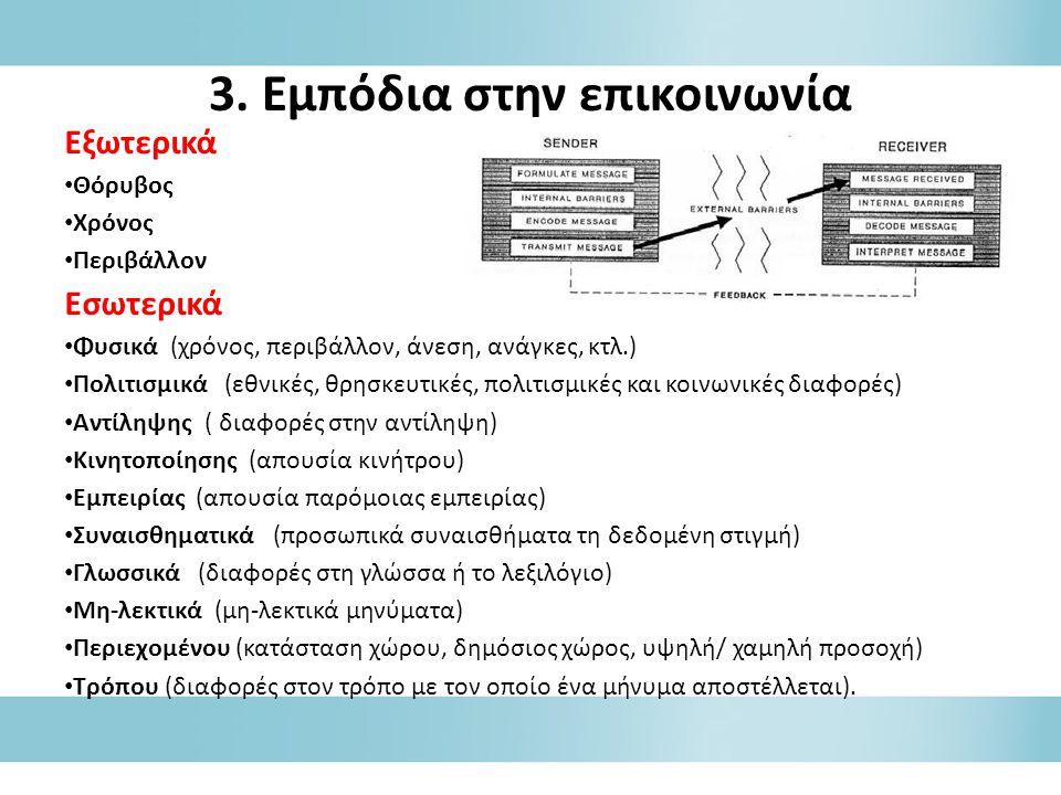 3. Εμπόδια στην επικοινωνία