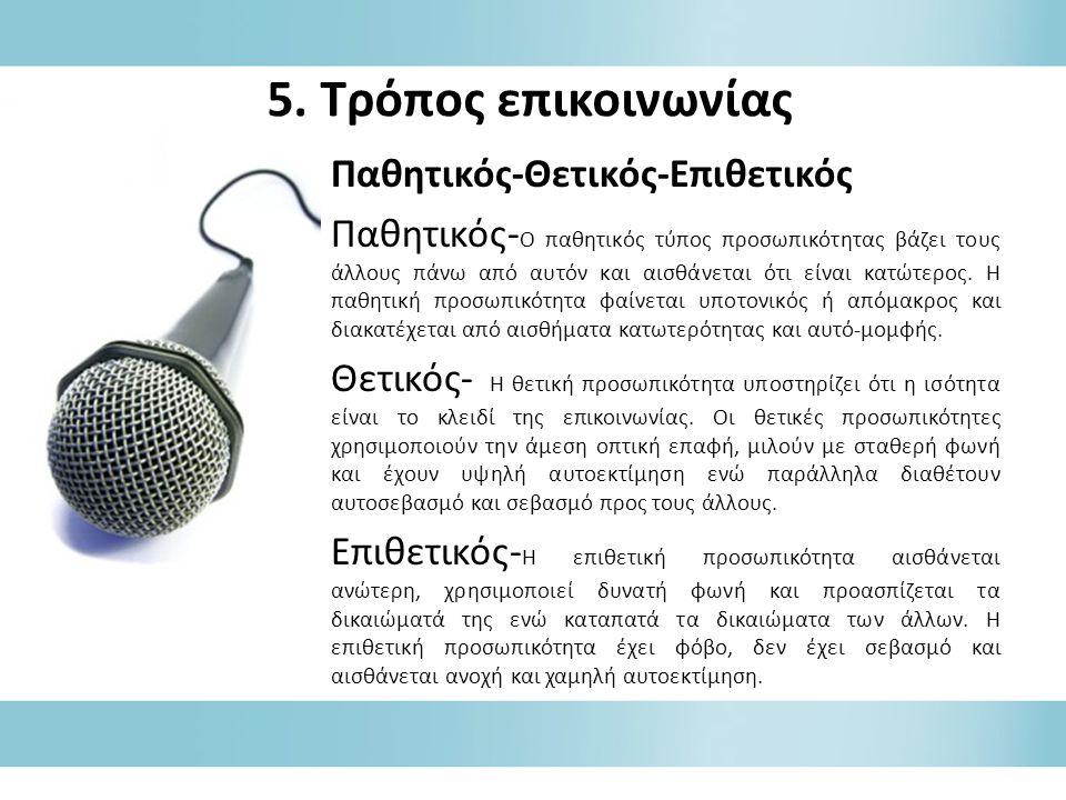 5. Τρόπος επικοινωνίας