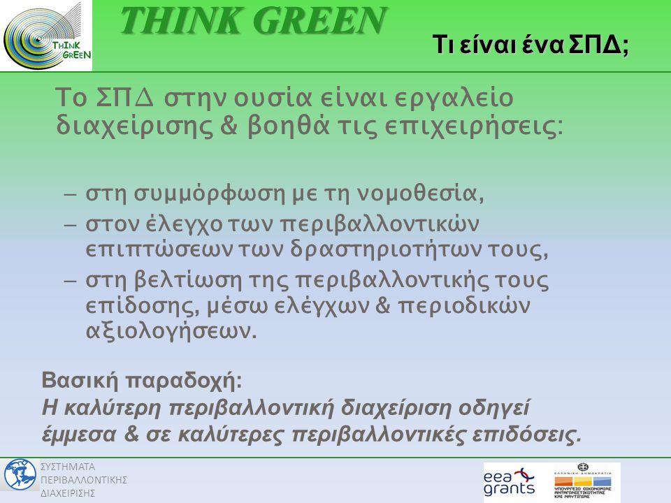 THINK GREEN Τι είναι ένα ΣΠΔ;