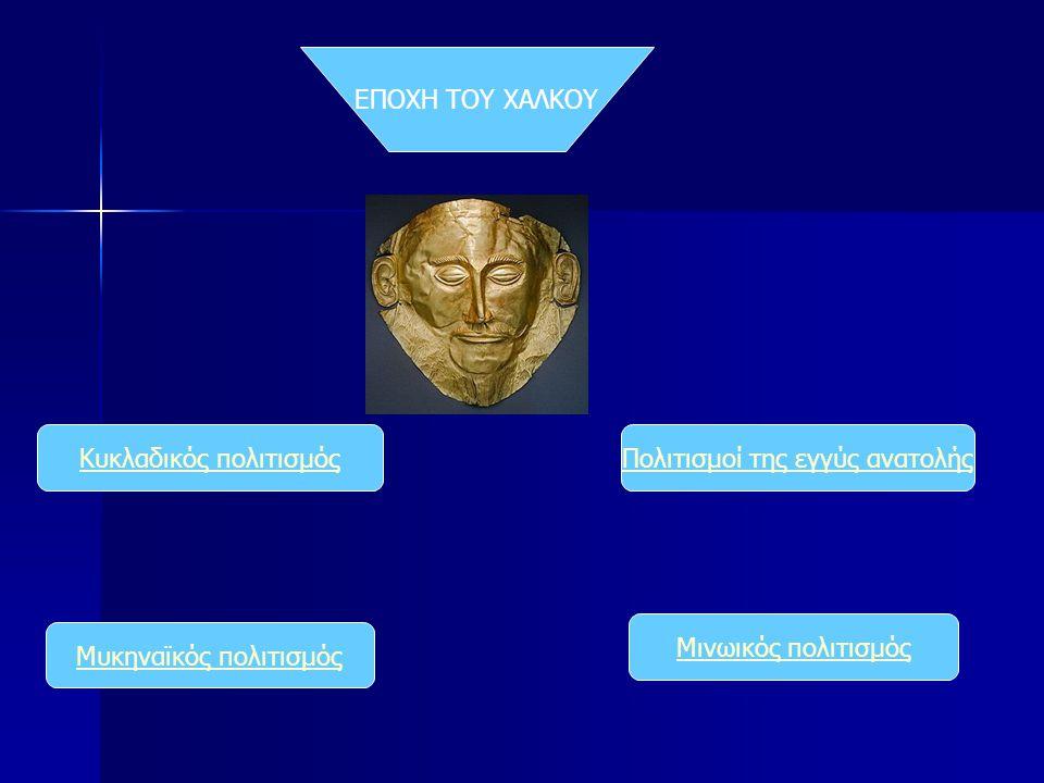 Κυκλαδικός πολιτισμός Πολιτισμοί της εγγύς ανατολής