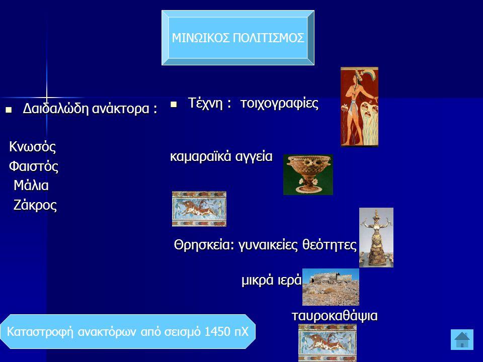 Καταστροφή ανακτόρων από σεισμό 1450 πΧ