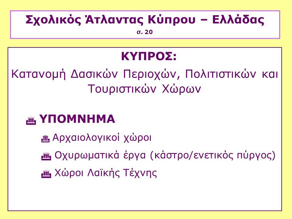 Σχολικός Άτλαντας Κύπρου – Ελλάδας