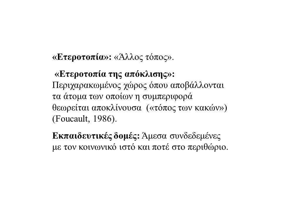«Eτεροτοπία»: «Άλλος τόπος».