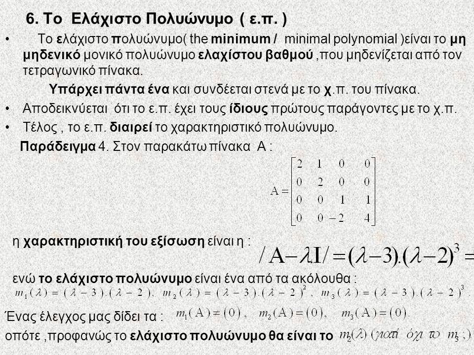 6. Το Ελάχιστο Πολυώνυμο ( ε.π. )