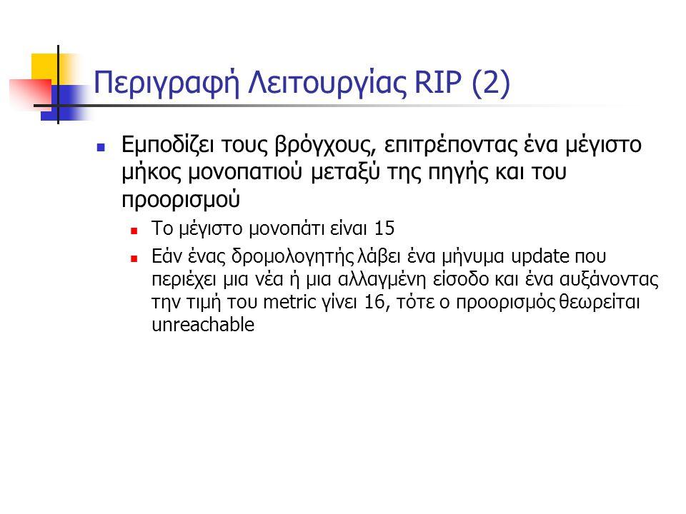 Περιγραφή Λειτουργίας RIP (2)
