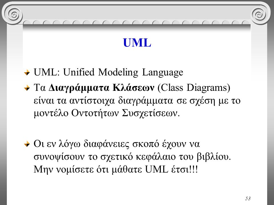 UML UML: Unified Modeling Language