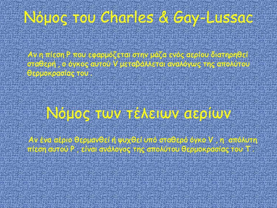 Νόμος του Charles & Gay-Lussac