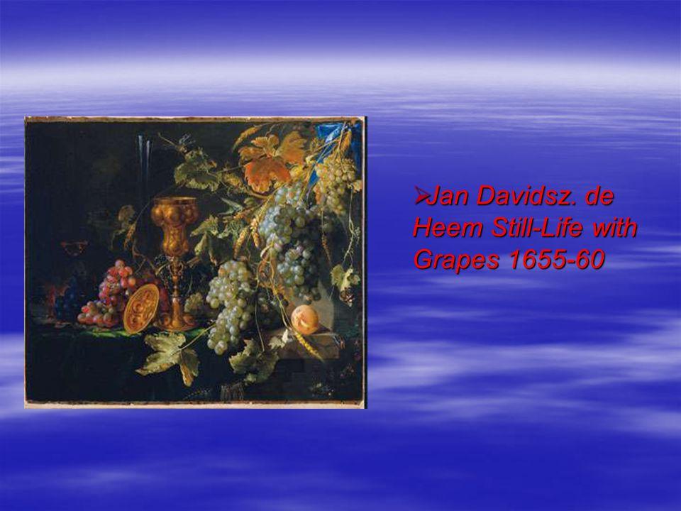 Jan Davidsz. de Heem Still-Life with Grapes 1655-60