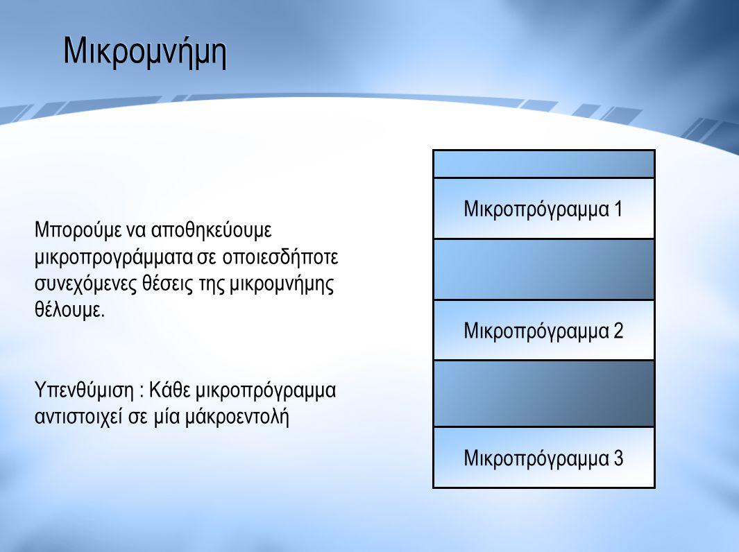 Μικρομνήμη Μικροπρόγραμμα 1