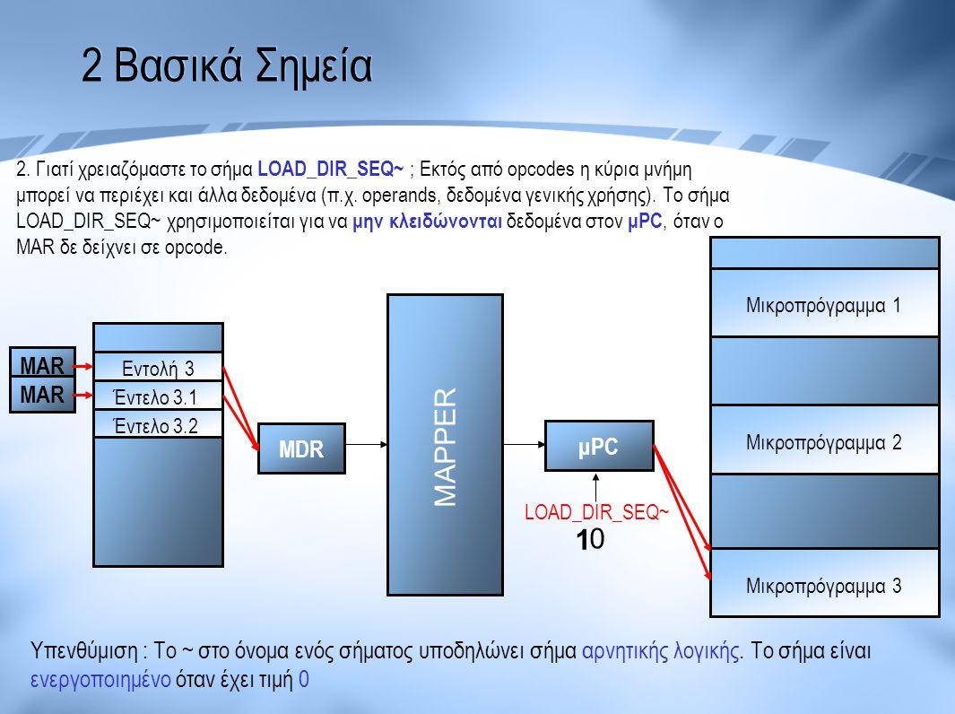 2 Βασικά Σημεία MAPPER 1 MAR MAR MDR μPC