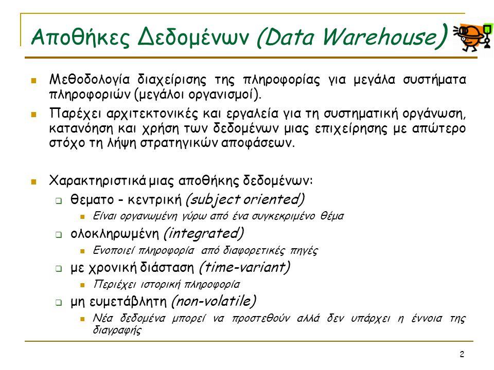 Αποθήκες Δεδομένων (Data Warehouse)
