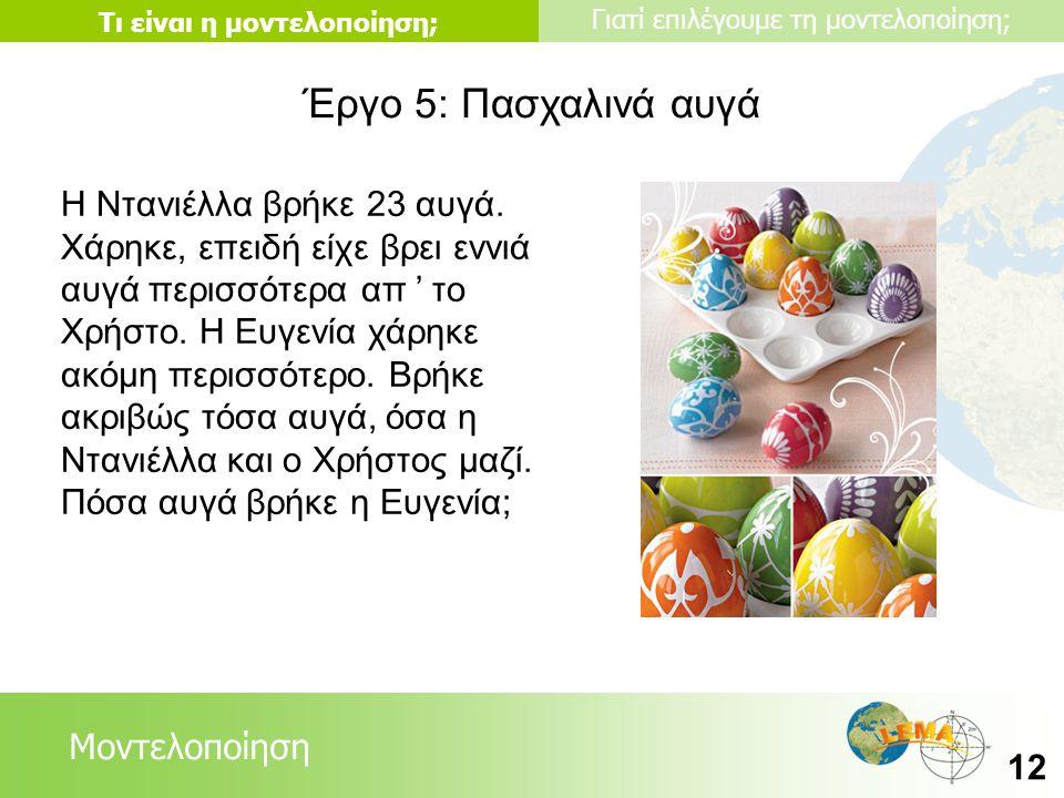Έργο 5: Πασχαλινά αυγά