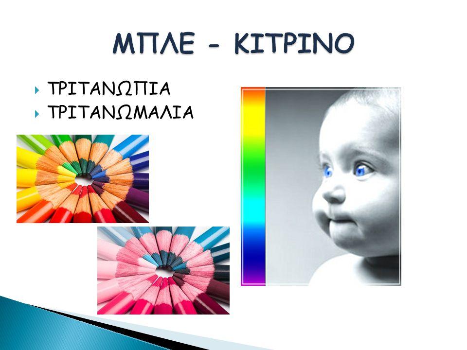 ΜΠΛΕ - ΚΙΤΡΙΝΟ ΤΡΙΤΑΝΩΠΙΑ ΤΡΙΤΑΝΩΜΑΛΙΑ