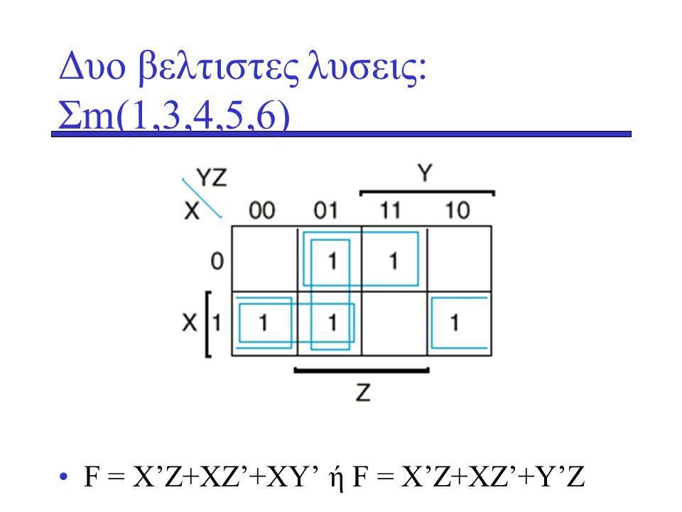 Δυο βελτιστες λυσεις: Σm(1,3,4,5,6)