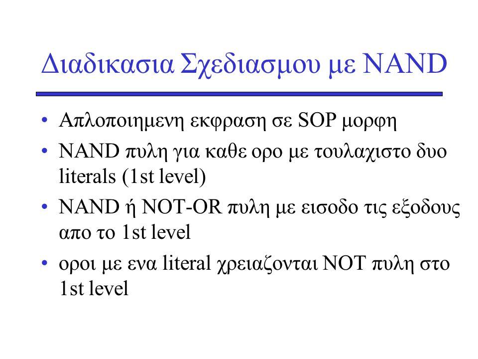 Διαδικασια Σχεδιασμου με NAND