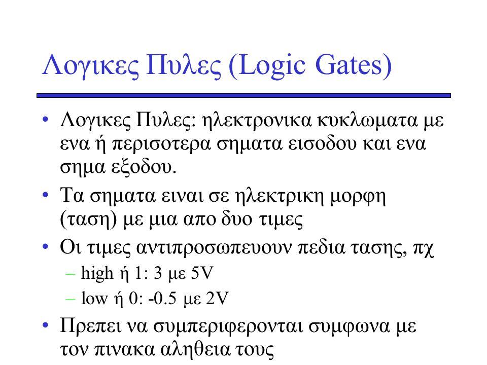 Λογικες Πυλες (Logic Gates)
