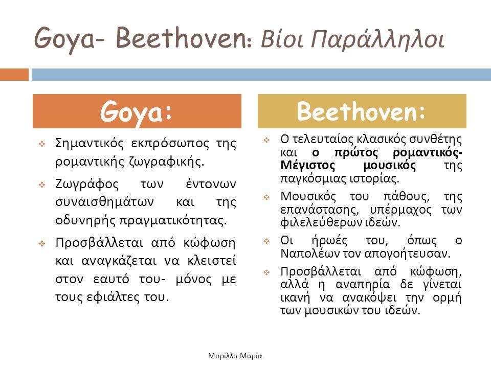 Goya- Beethoven: Βίοι Παράλληλοι