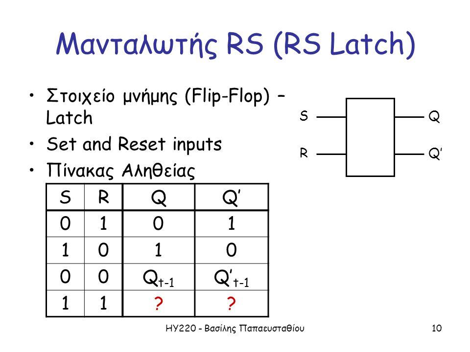 Μανταλωτής RS (RS Latch)
