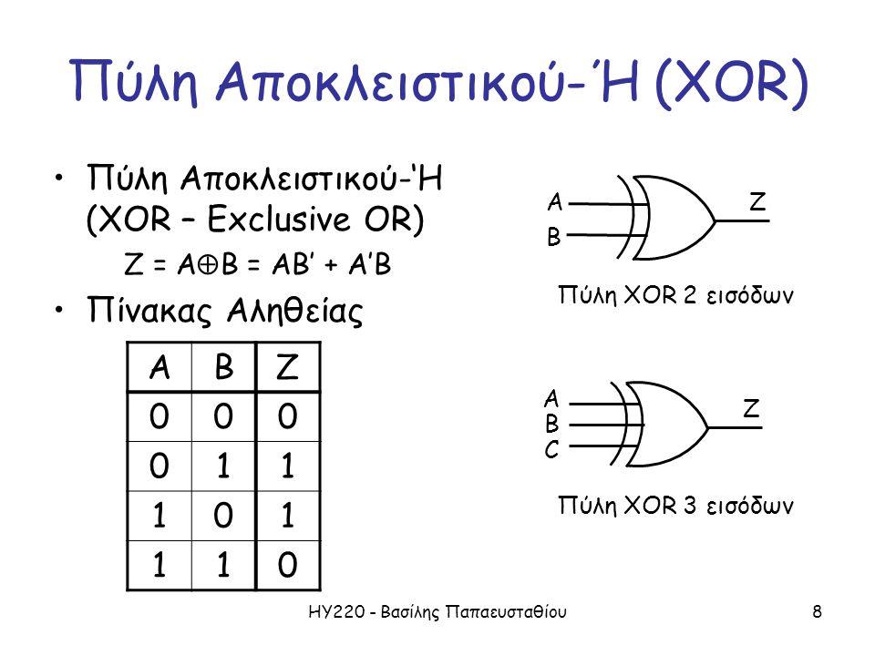 Πύλη Αποκλειστικού-Ή (XOR)