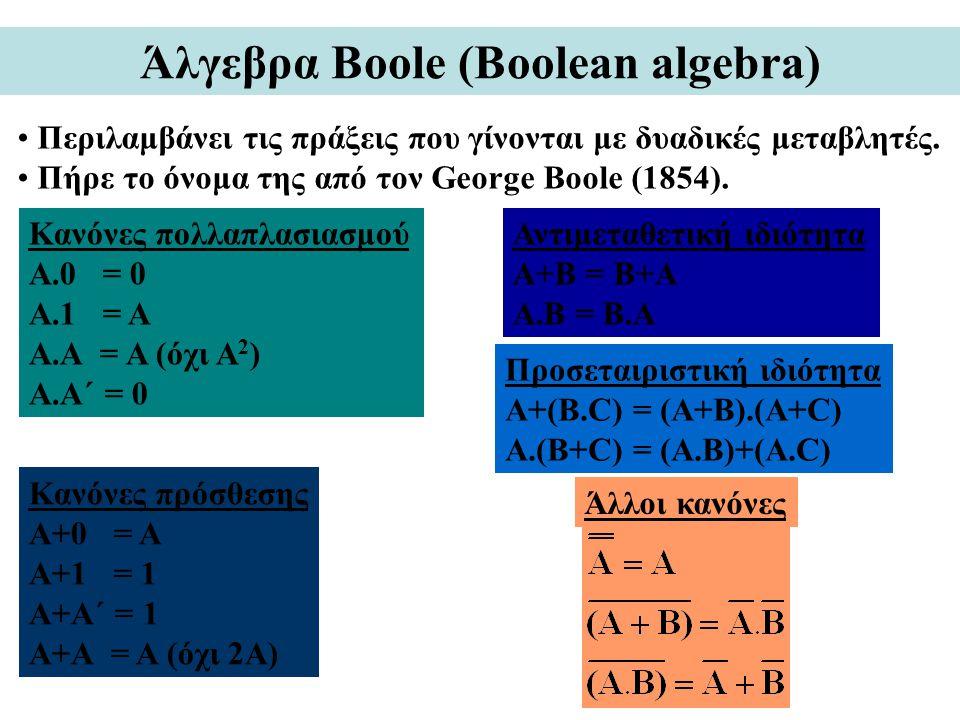 Άλγεβρα Boole (Boolean algebra)