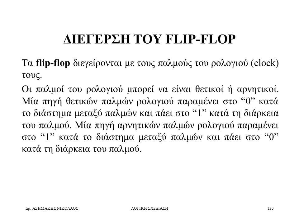 ΔΙΕΓΕΡΣΗ ΤΟΥ FLIP-FLOP